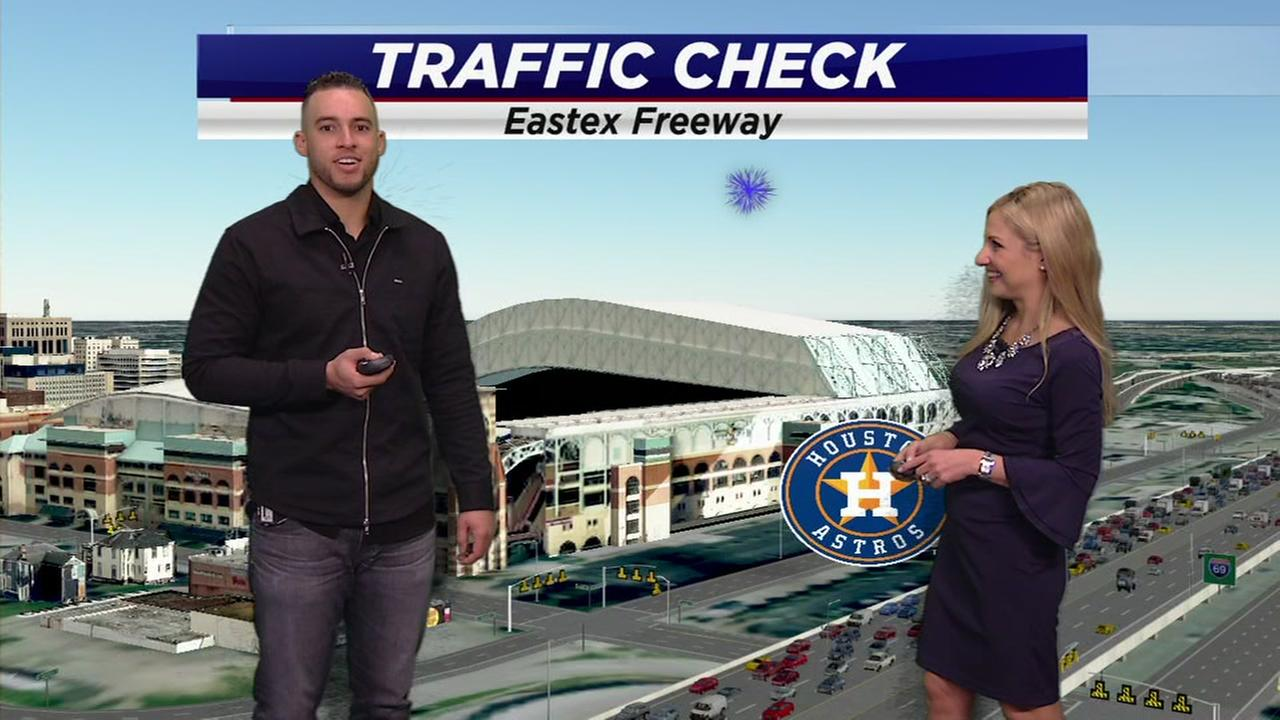 World Series MVP George Springer does traffic report with Katherine Whaley