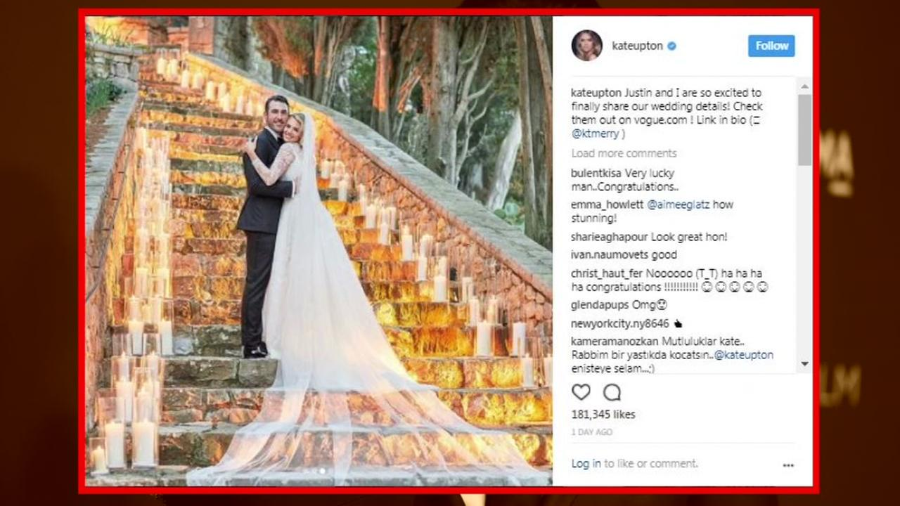 Photos of Justin Verlander and Kate Uptons wedding in Italy