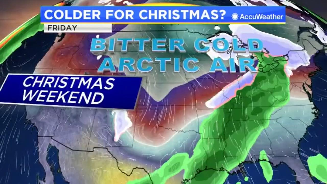 Colder weather for Christmas possible