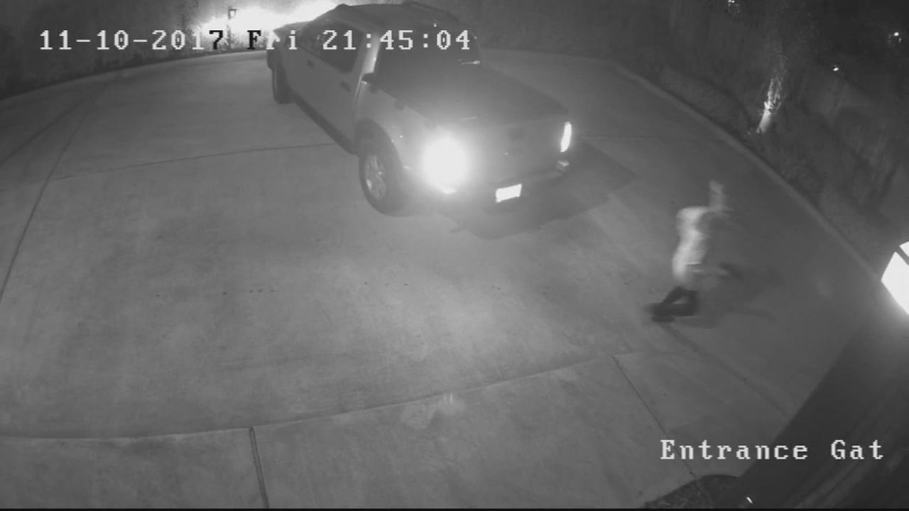 Man caught on surveillance video shooting in neighborhood