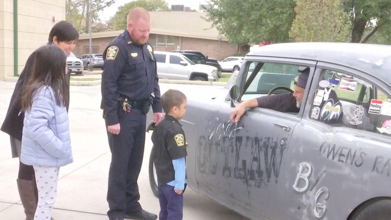 Boy with cancer sworn-in as Bellaire cop for a day