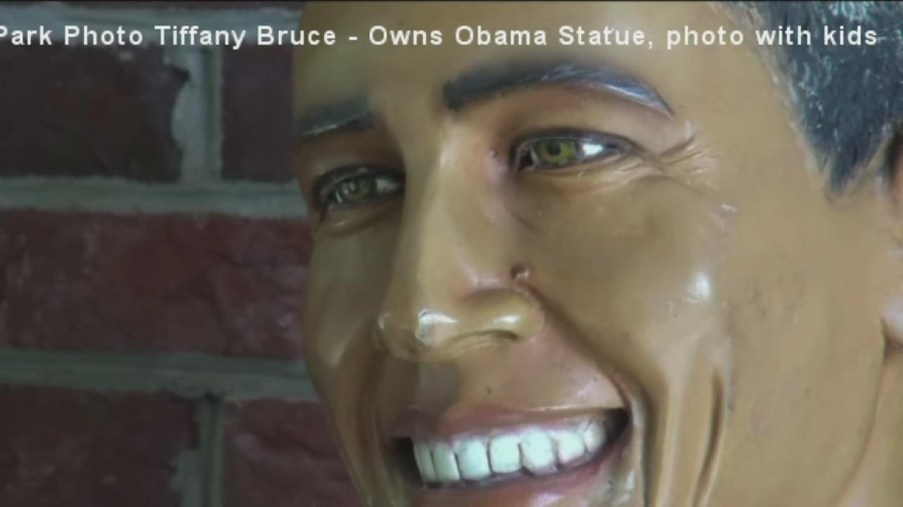 Mystery of stolen Obama statue solved