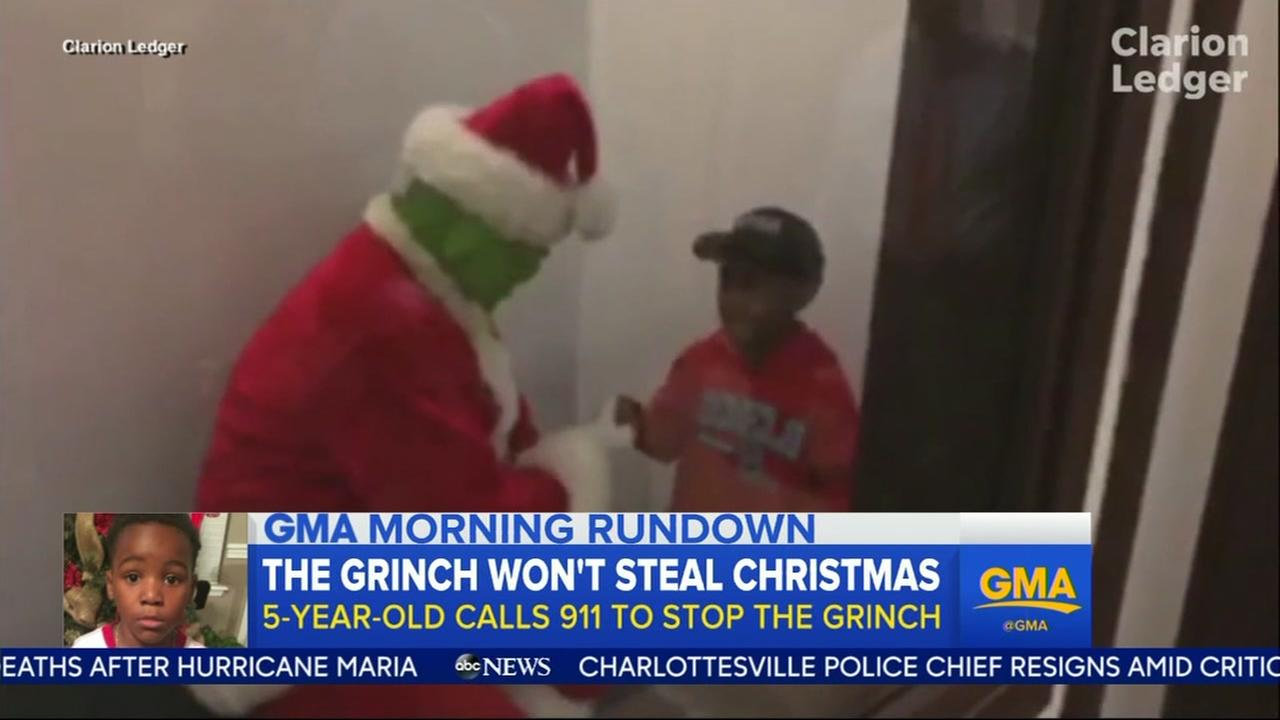 Boy calls 911 on Grinch and saves Christmas