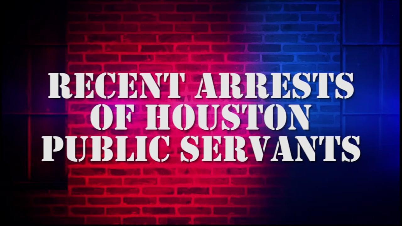 Recent arrests of Houston public servants