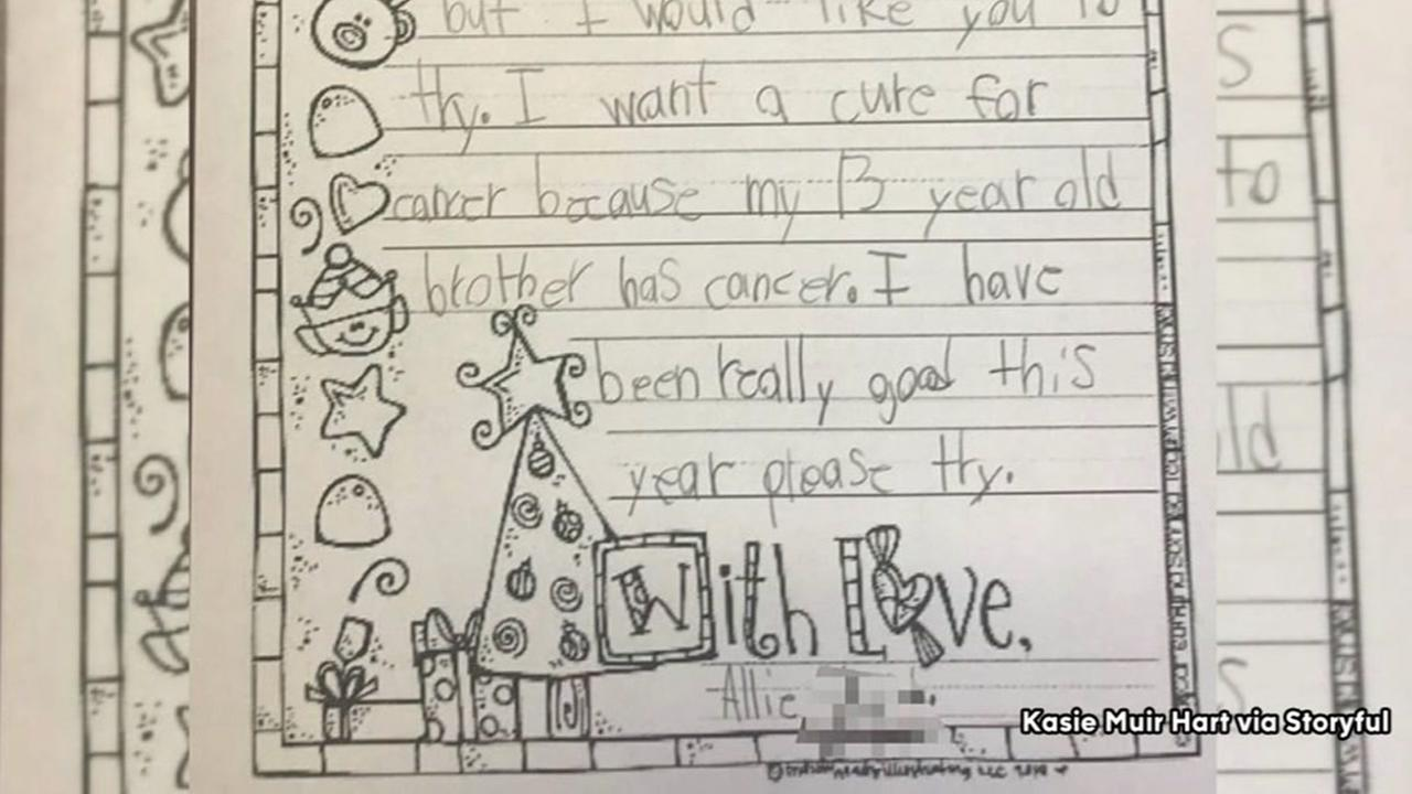 13 year old girl asks Santa for cure for cancer in heartbreaking letter