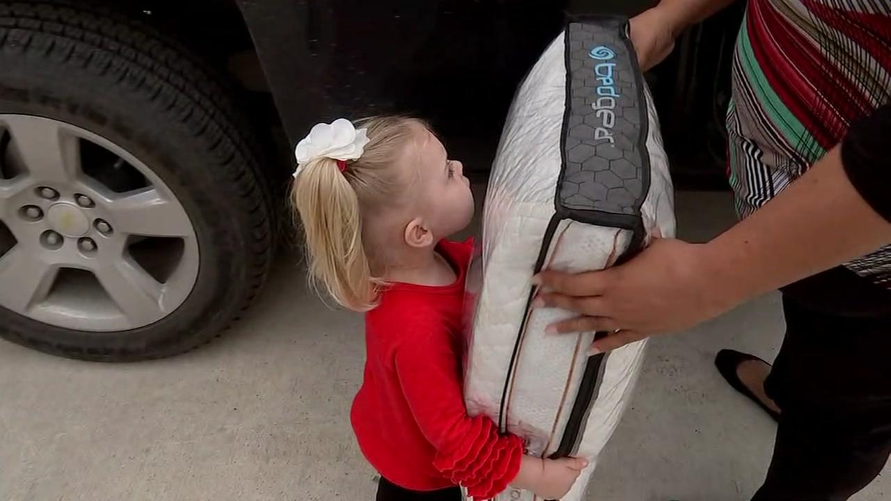 Girl that asked Santa for nap giving back to Harvey victims