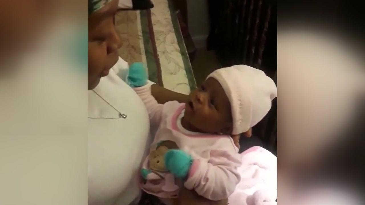 Cell phone video of Shamalli Flores and her mother