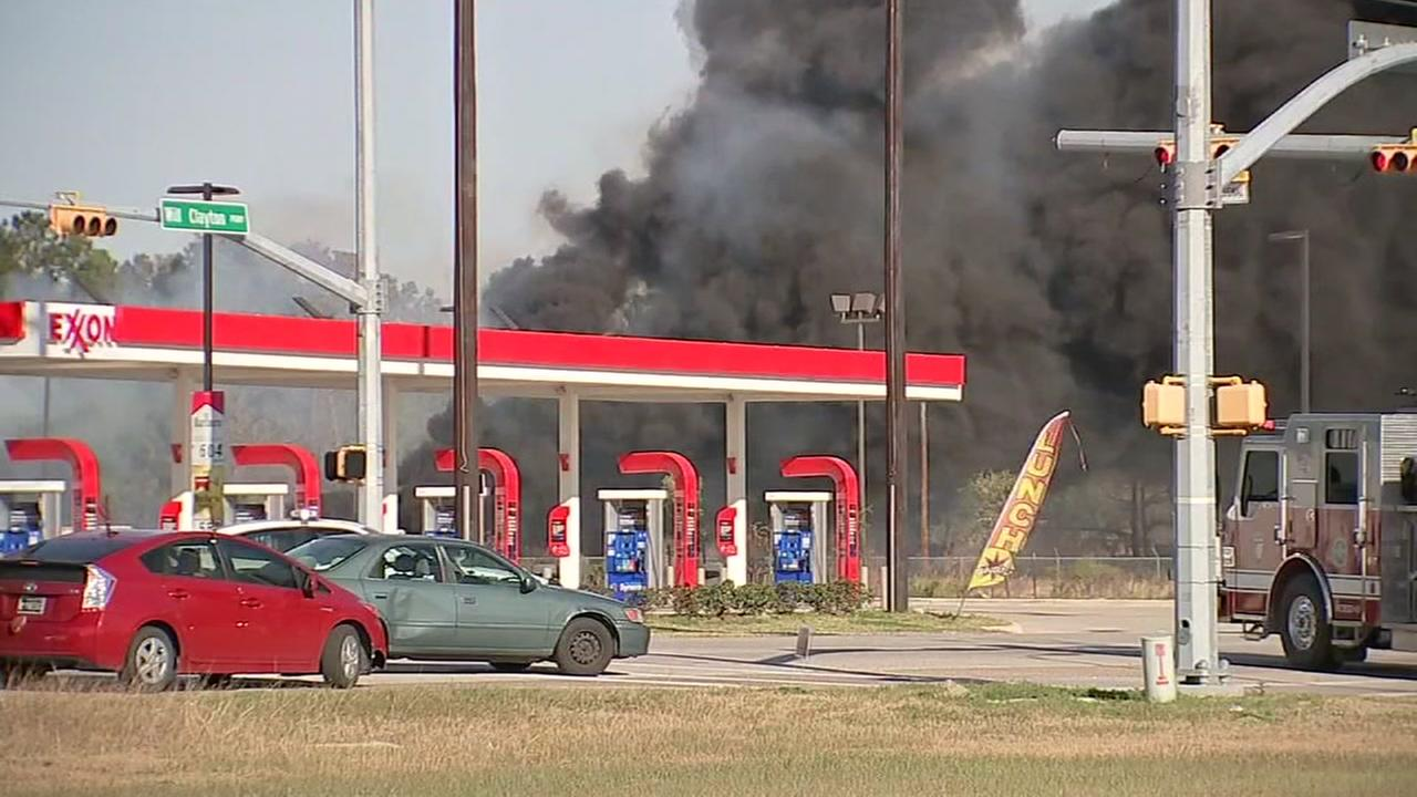 Cause of fire near Humble High School under investigation
