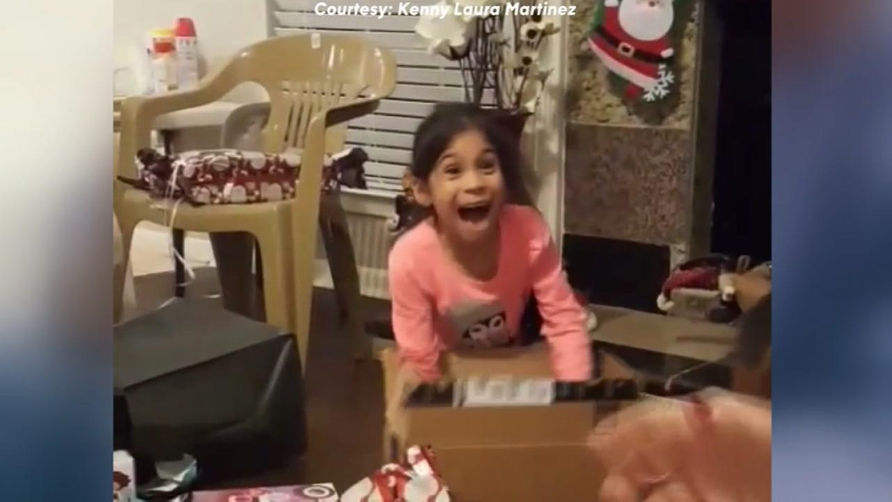 Little girl screams after opening Hatchimal surprise for Christmas