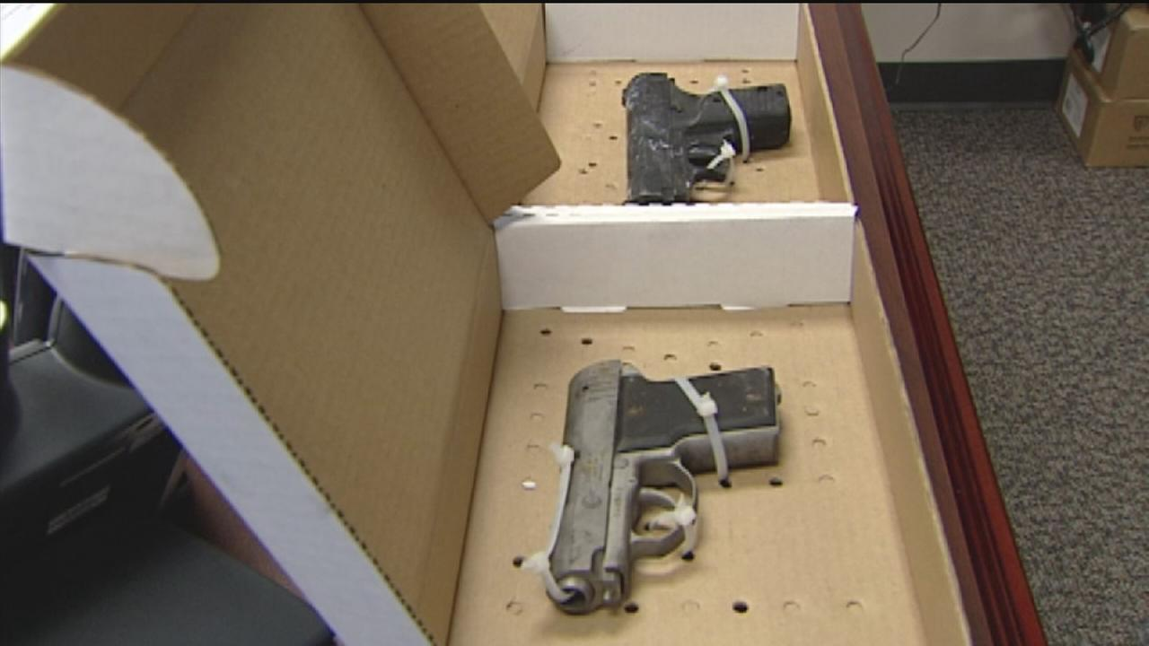 Two handguns found at jail