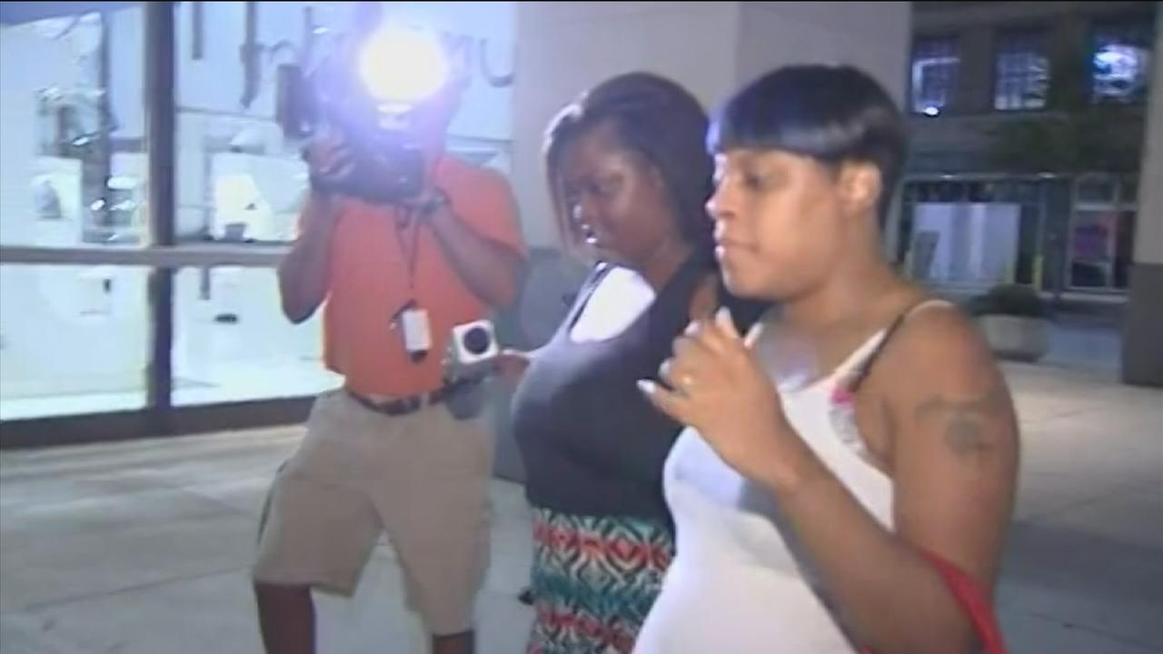 Family members wait to reunite with kidnapped children