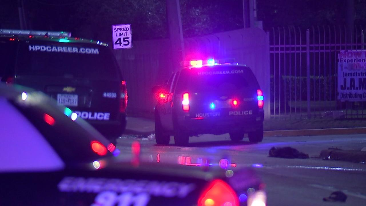 Pedestrian struck by police patrol car