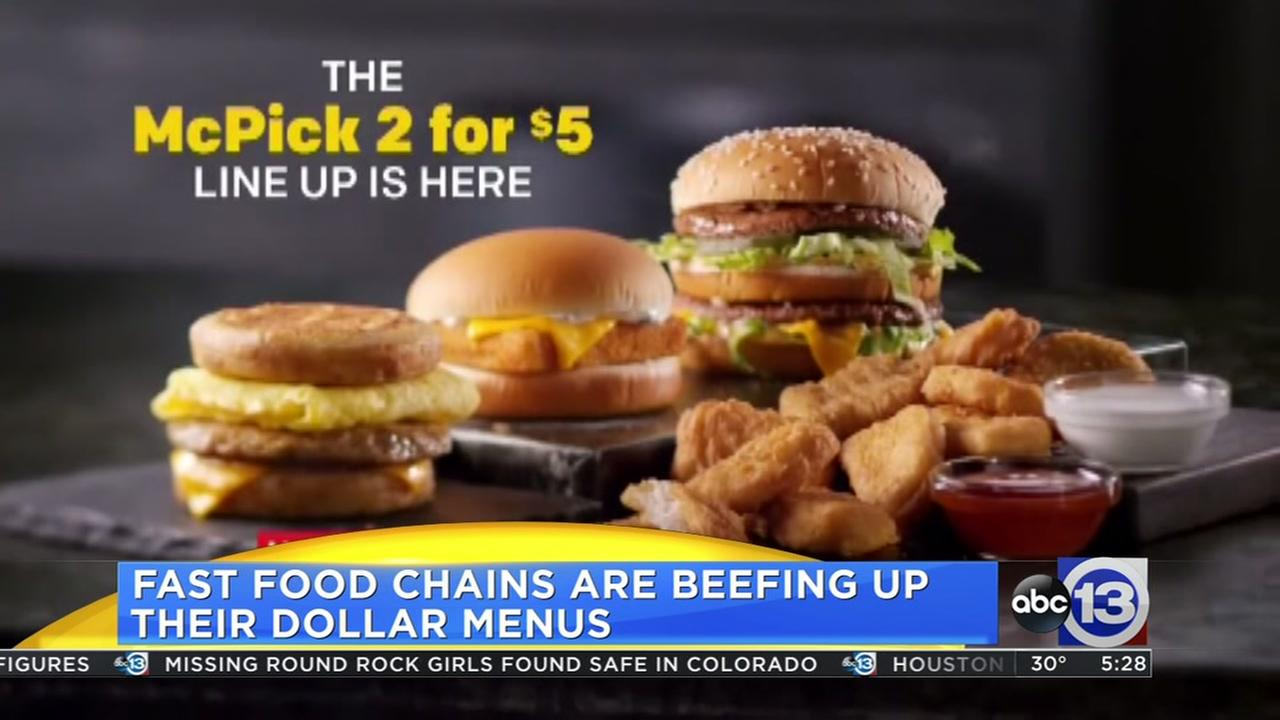 Fast food chains beefing up their dollar menus