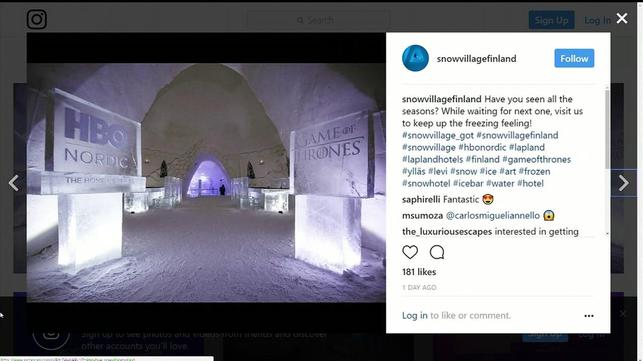 Game of Thrones themed ice hotel in Finland