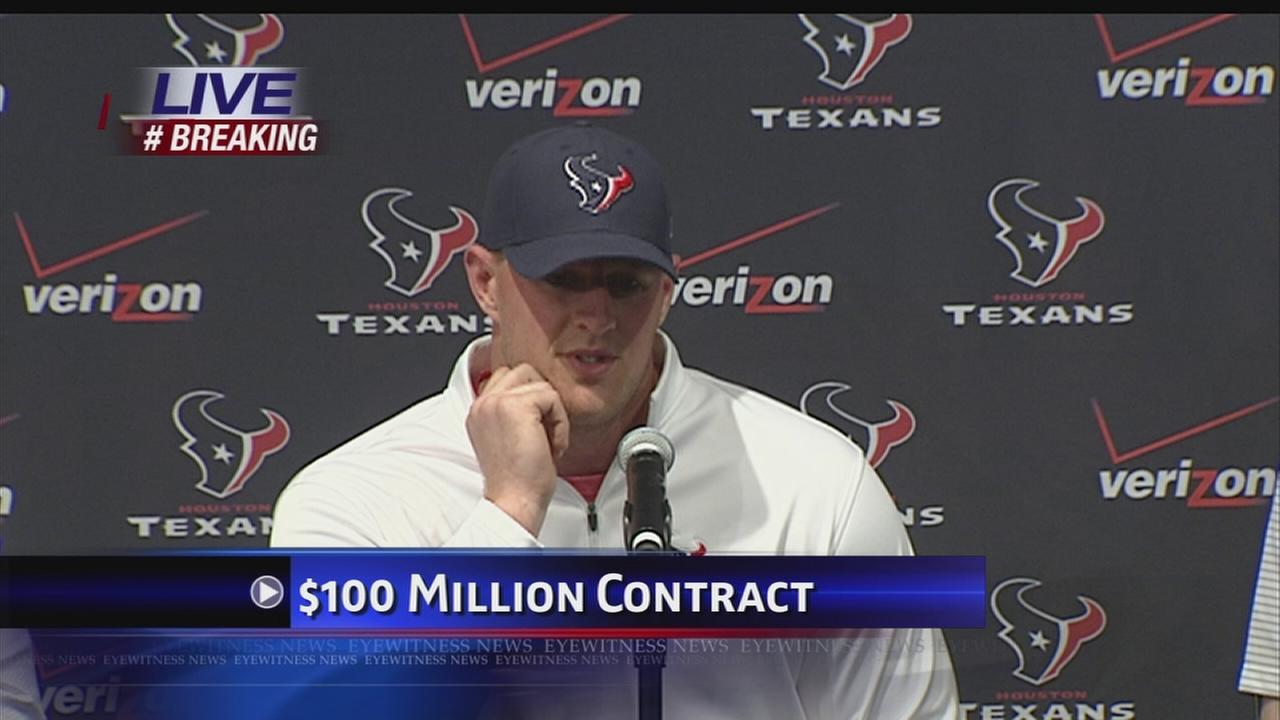 JJ Watt talks about new contract