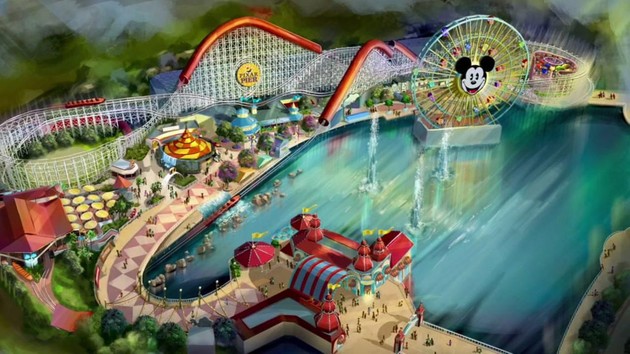 Construction on Pixar Pier begins at Disney California Adventure