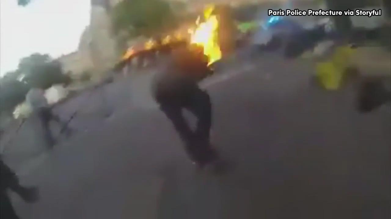 Man catches on fire after being tasered