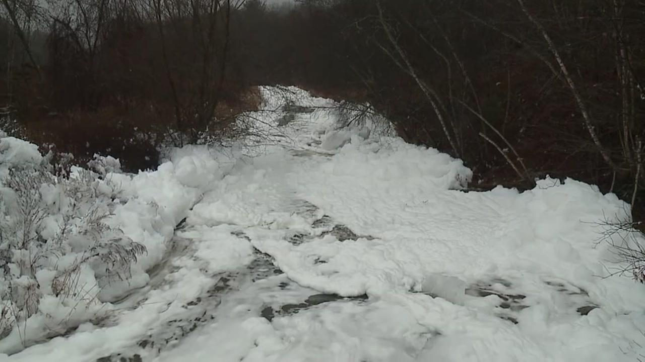 Mysterious foam plagues creek, neighborhood in northeastern Pennsylvania