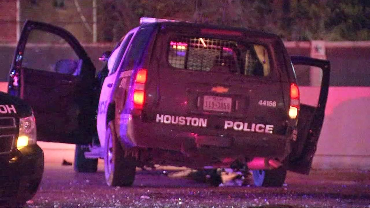 Suspected drunk driver hits two patrol cars