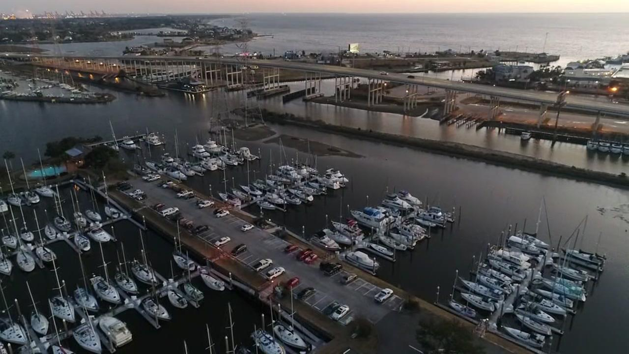 Drone video of the Kemah-Seabrook area