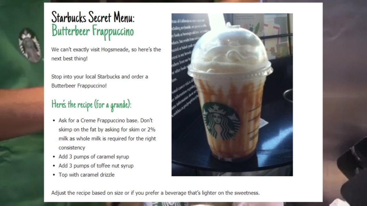How to order a Harry Potter themed Frappuccino at Starbucks