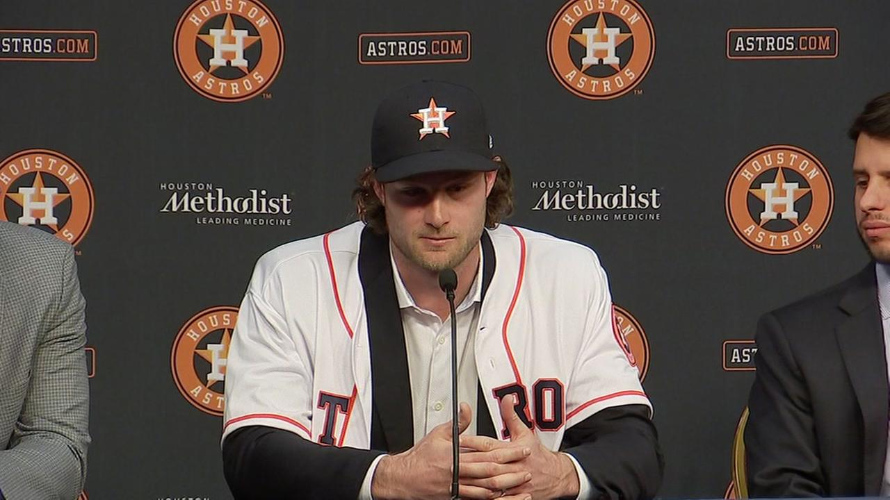 Astros introduce newest pitching ace Gerrit Cole