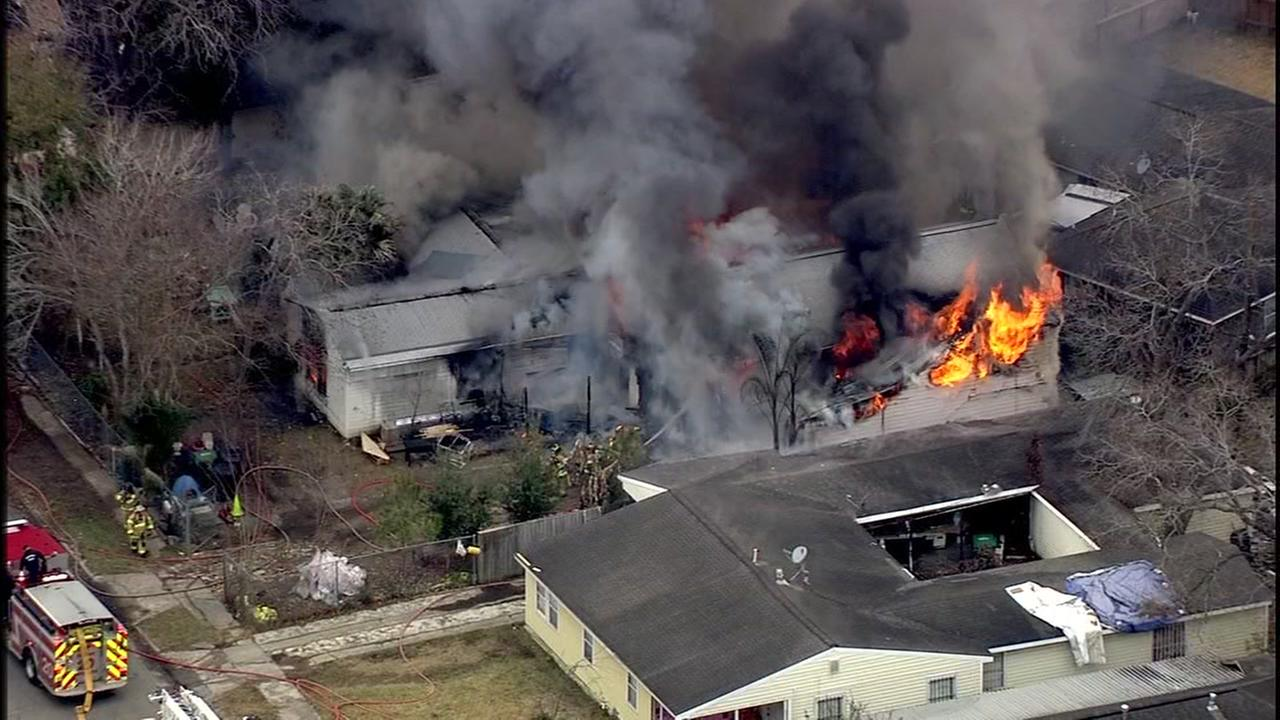 House in southeast Houston engulfed by flames