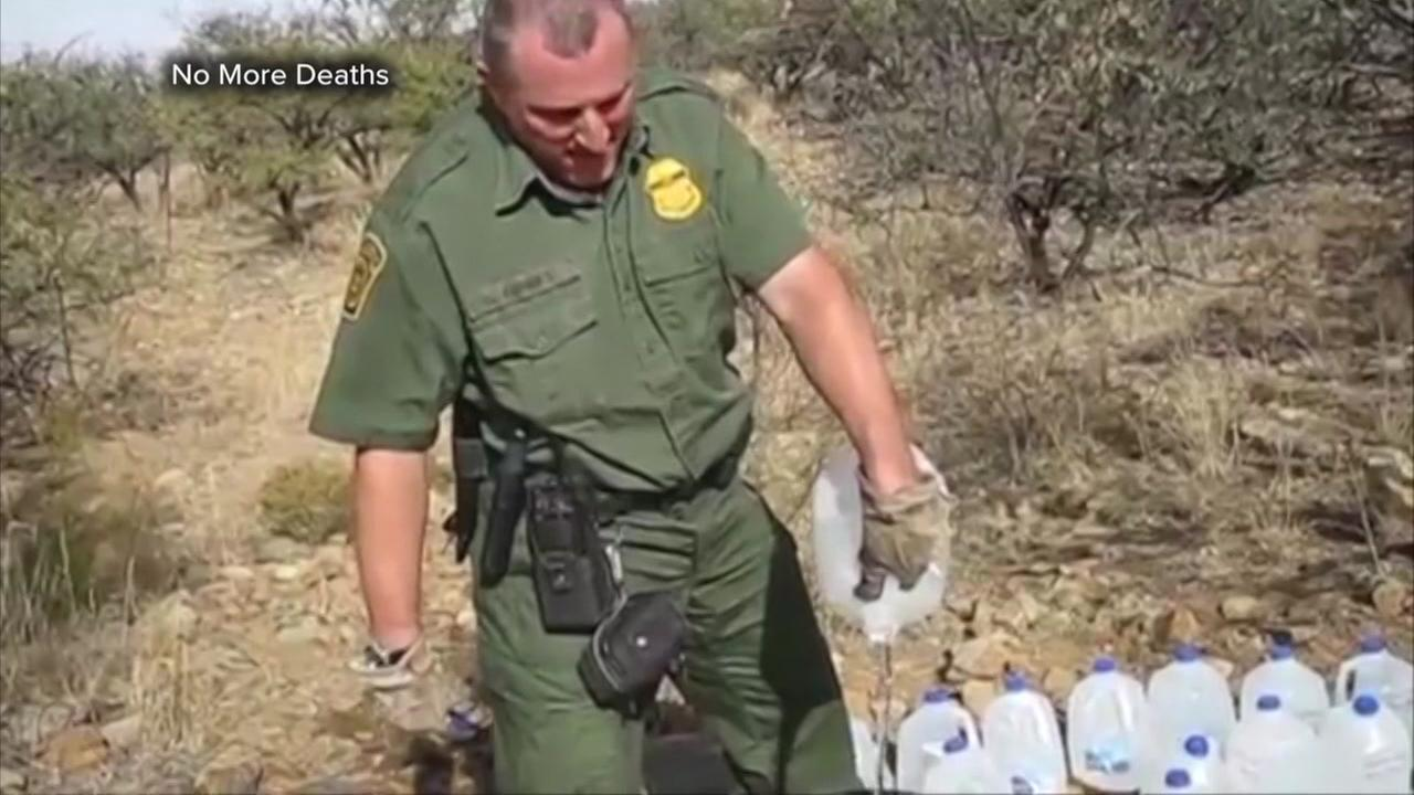 Group claims border patrol destroyed water