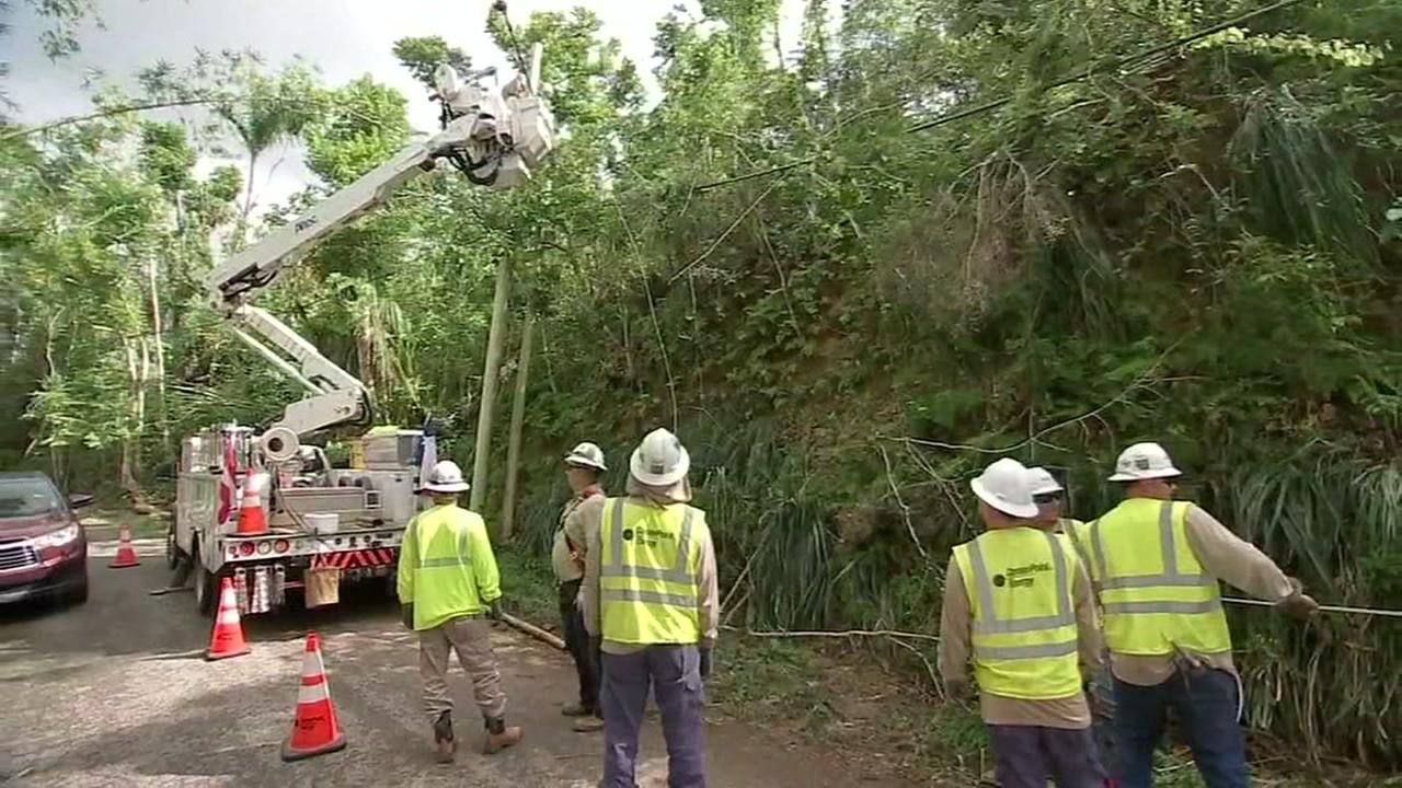 POWER TO PUERTO RICO: CenterPoint workers bring island back online months after Maria