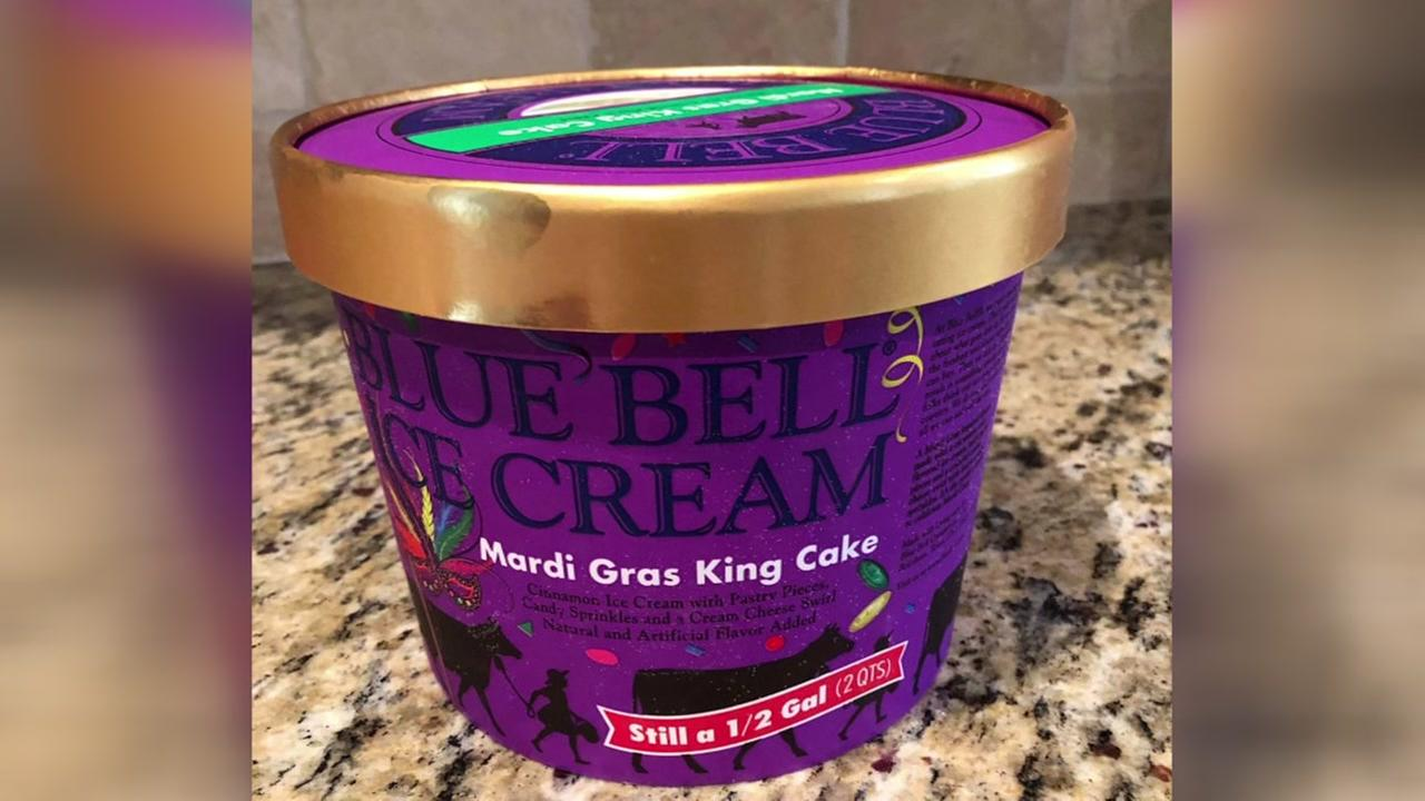 Where is the Mardi Gras King Cake ice cream?