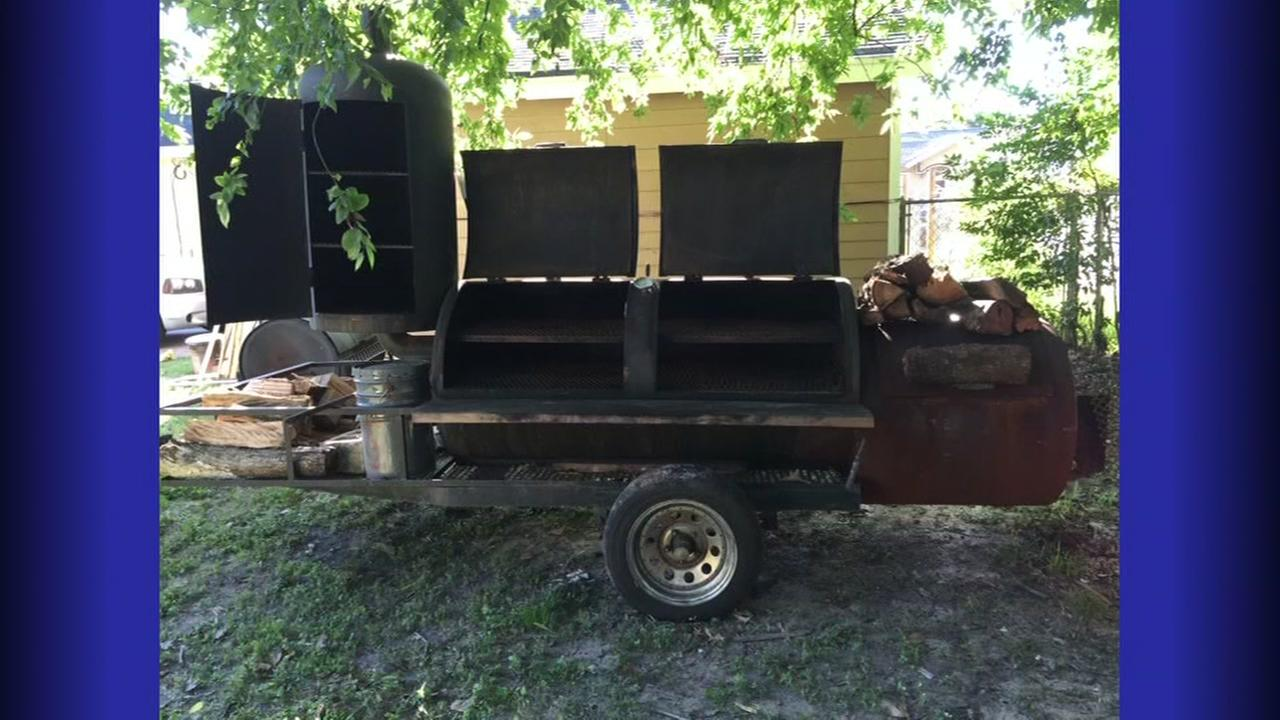 Caught on camera: BBQ pit stolen from church
