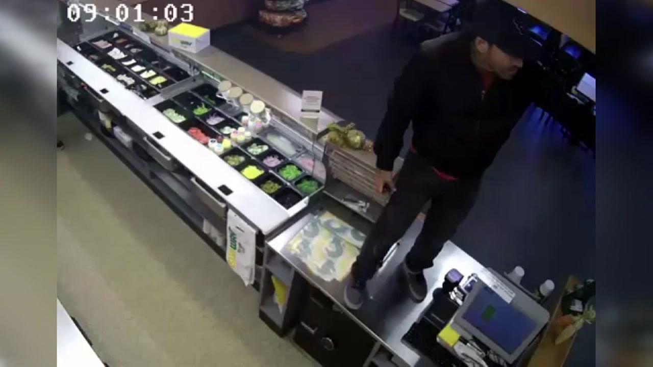 Subway knife robbery