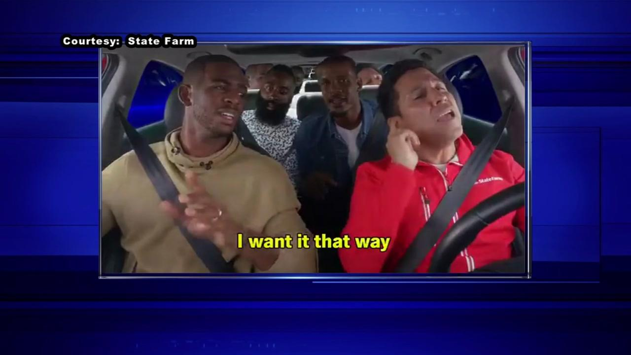 Houston Rockets stars carpool karaoke for TV ad
