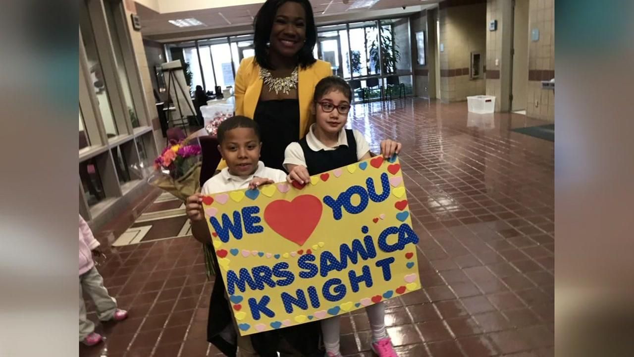 Hearne Elementary rolls out red carpet for Samica