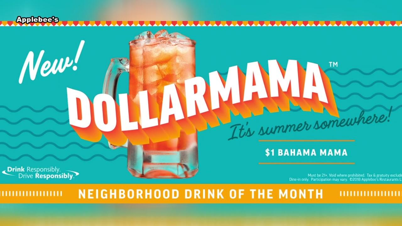 Applebees DOLLARMAMA cocktail for $1