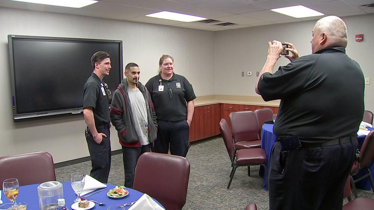 Man thanks those who saved his life after head-on crash