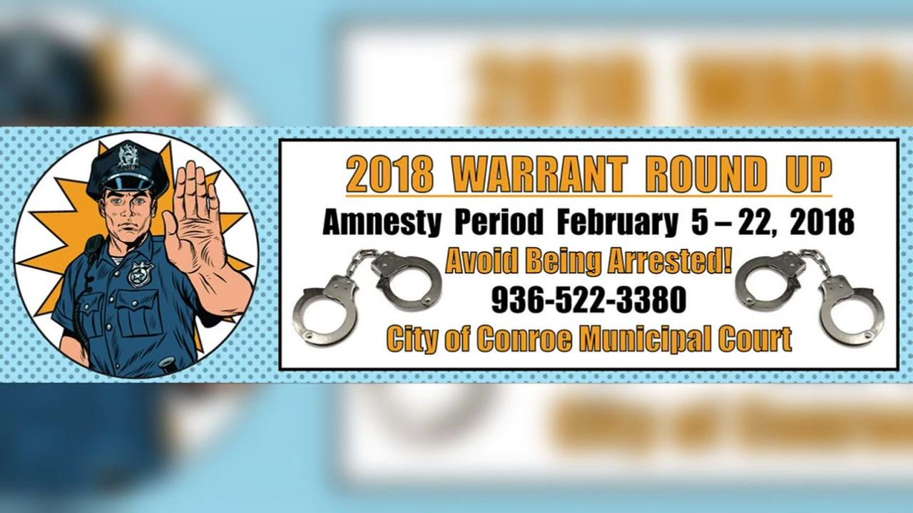 Conroe judge offers amnesty for traffic warrants