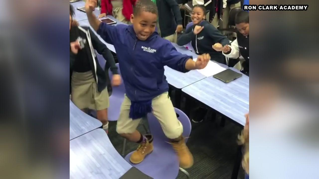 Students erupt after finding out they are going to see Black Panther