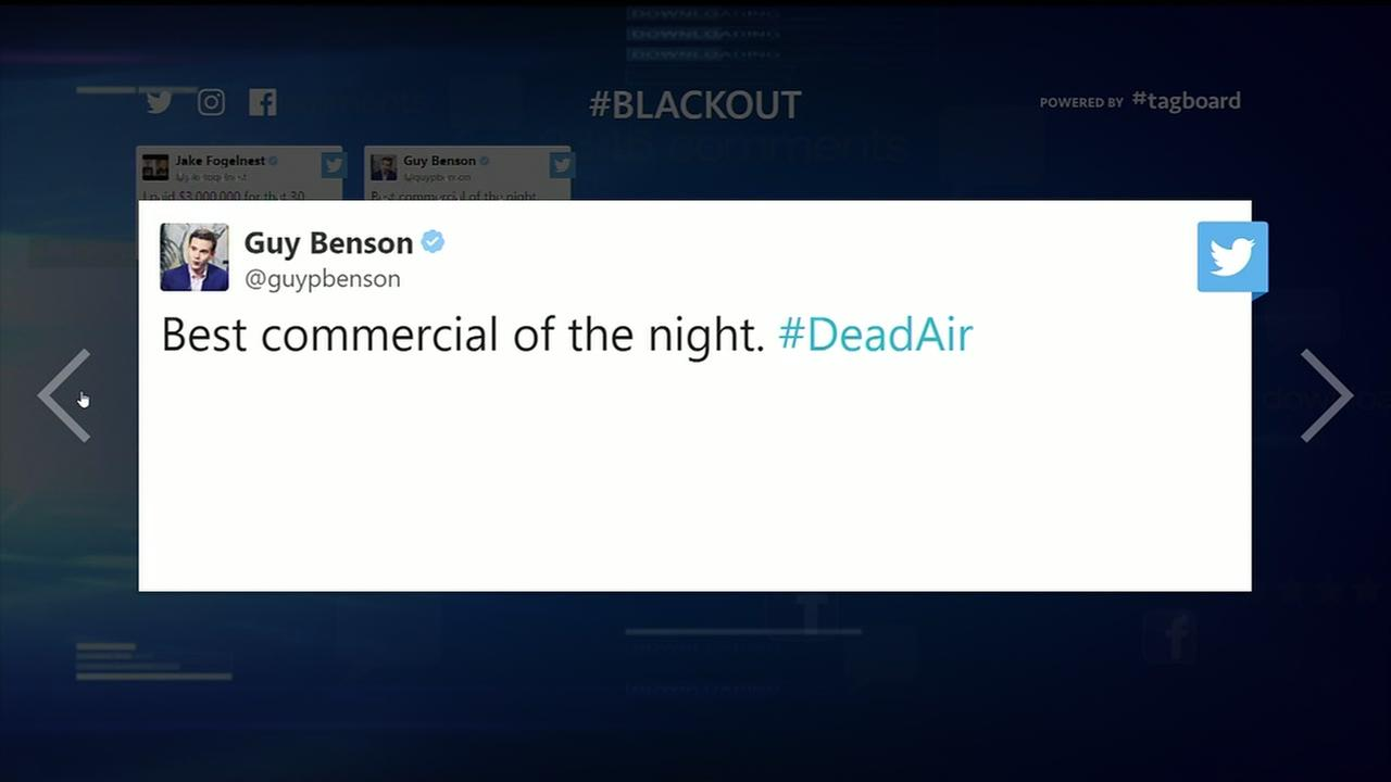 Brief blackout during Super Bowl