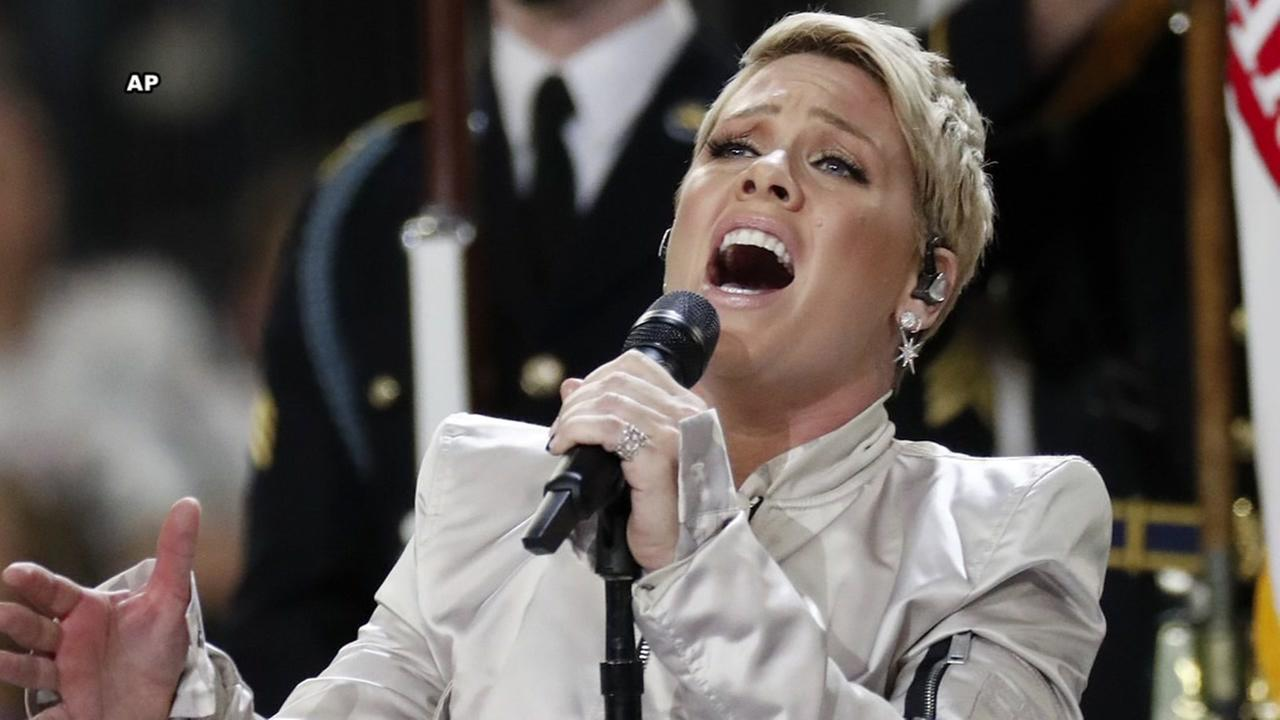 Pink responds to haters over Super Bowl performance