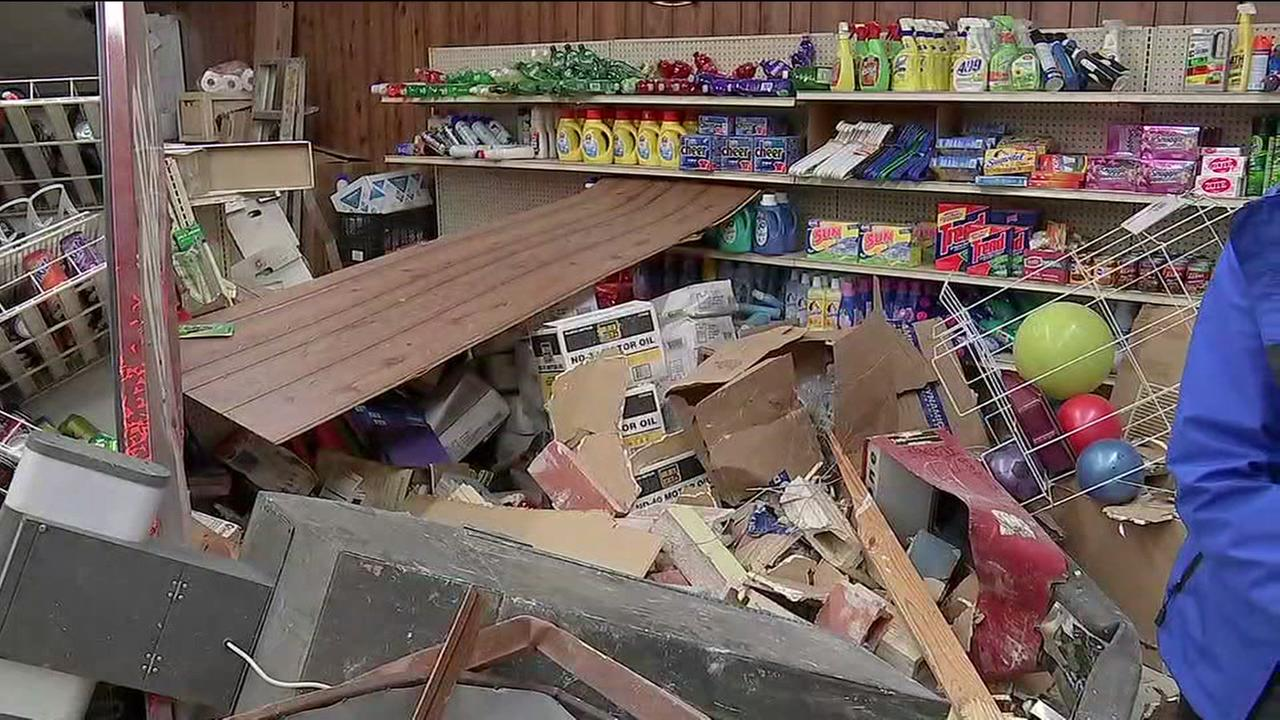 Police looking for two men who smashed into store