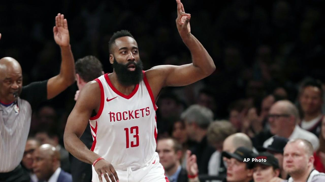 James Harden hits 15,000-point milestone in win against Nets
