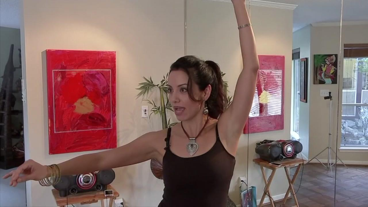 Busy mom uses belly dancing to stay fit
