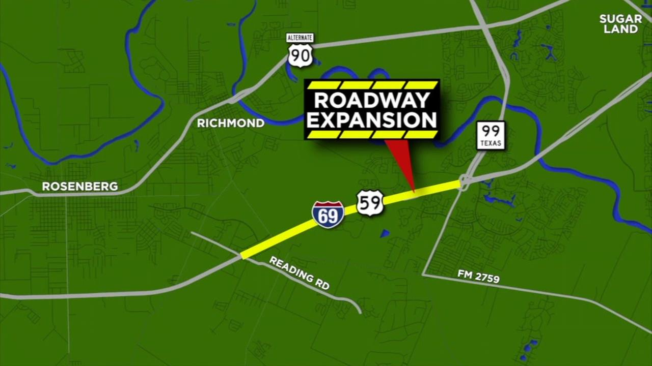 Roadway expansion in Fort Bend County