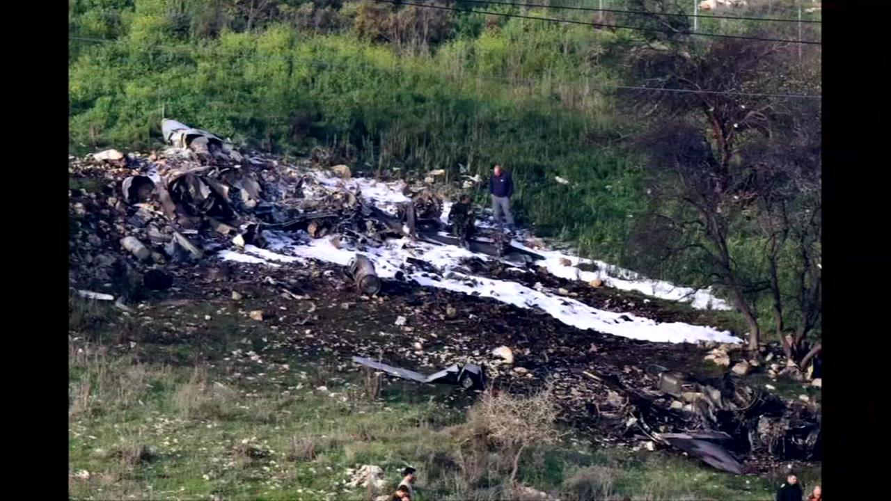 Israel launches attack in Syria after jet crashes