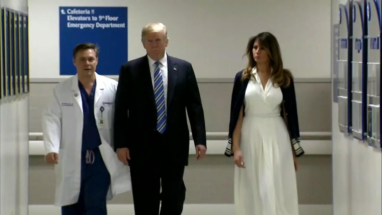 Trump makes visit to hospital in Florida