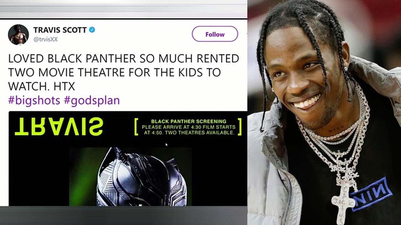 Travis Scott pays for screenings to Black Panther
