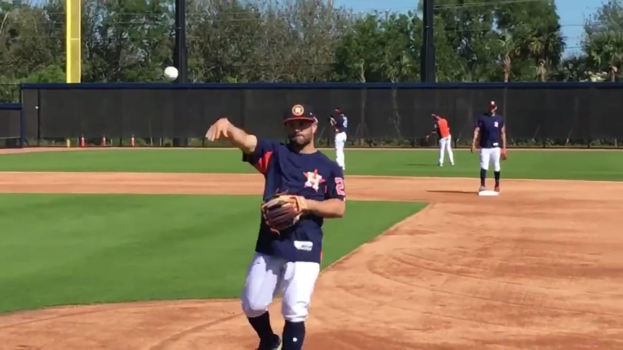 Astros Springs Training vlog: First day of position player drills