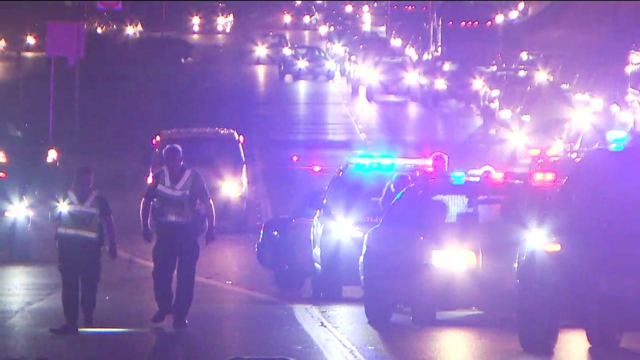 Woman hit and killed on freeway