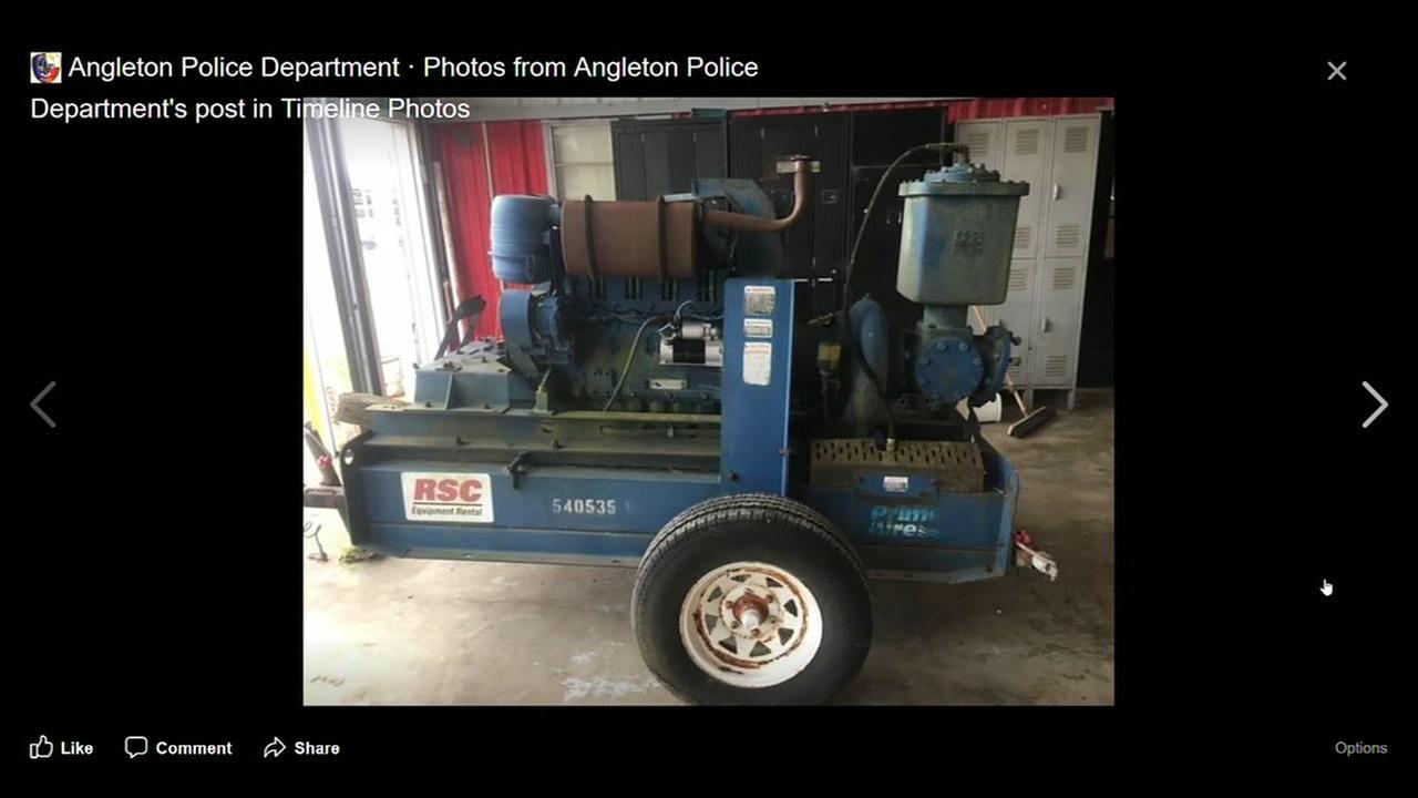 Angleton sewer pump stolen